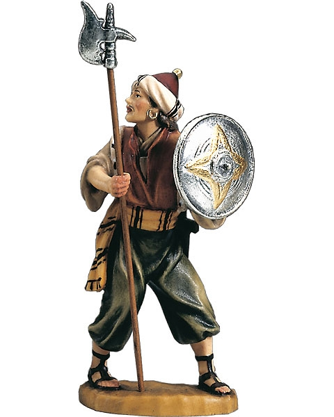 Soldier with halberd and shield