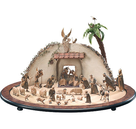 Nativity Stable by Lepi - Oval with Wall